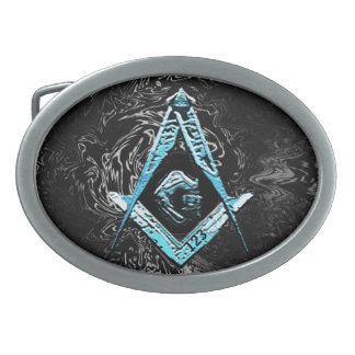 Masonic Minds (SwishBrightBlue) Belt Buckles