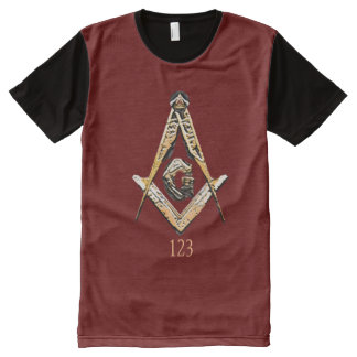 Masonic Minds (Yellowish) All-Over Print T-Shirt