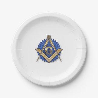 Masonic paper plates