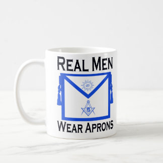 "Masonic ""Real Men Wear Aprons"" mug"