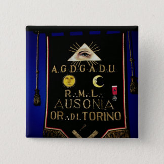 Masonic Regalia, from the Order of Turin 15 Cm Square Badge