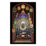 Masonic Royal Arch Tracing Board - Medium Poster