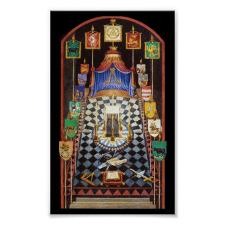 Masonic Royal Arch Tracing Board - Medium Poster