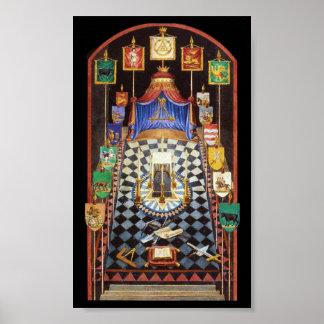 Masonic Royal Arch Tracing Board - Medium Posters