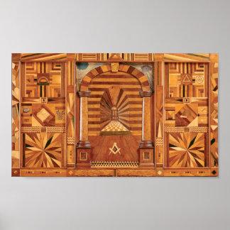Masonic Royal Arch Tracing Board Poster