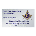 MASONIC / SHRINERS EMBLEM BUSINESS CARD TEMPLATE