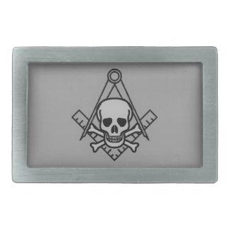 Masonic Skull and Crossbones Belt Buckle