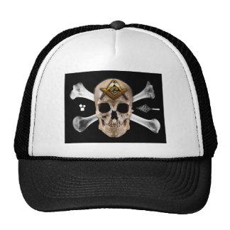 Masonic Skull & Bones Compass Square Cap