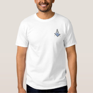 Masonic Square and Compass Embroidered T-Shirt