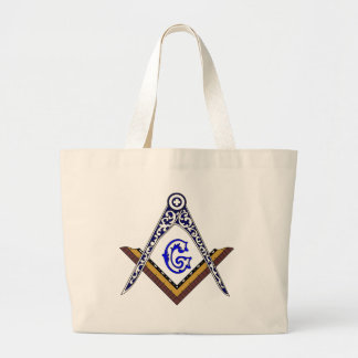 Masonic Square and Compass Jumbo Tote Bag