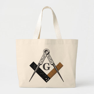 Masonic Square and Compass Large Tote Bag