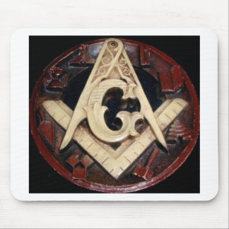 Masonic Square and Compass working tools Mouse Mat