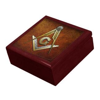 Masonic Square and Compasses Large Square Gift Box