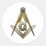 Masonic Square and Compasses Sticker