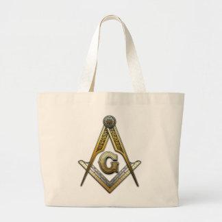 Masonic Square and Compasses Jumbo Tote Bag