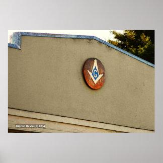 Masonic Square Compass Posters