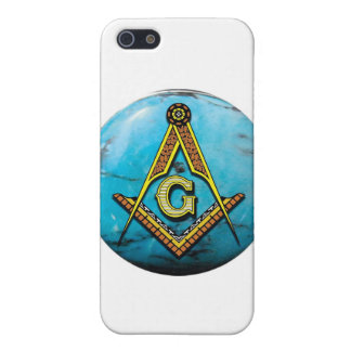 Masonic Square & Compass Turquoise iPhone 5 Cases