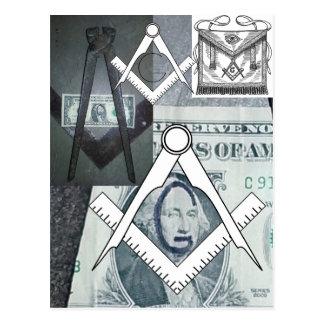 Masonic Symbol 'G' ~ G.eorge Washington: Freemason Postcard