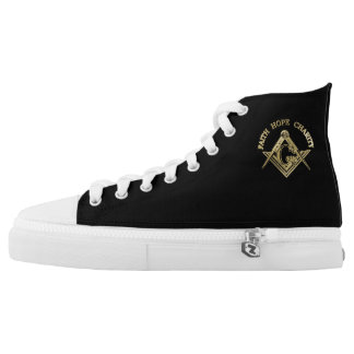Masonic symbol high tops