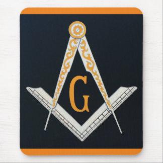 Masonic symbol mouse pad