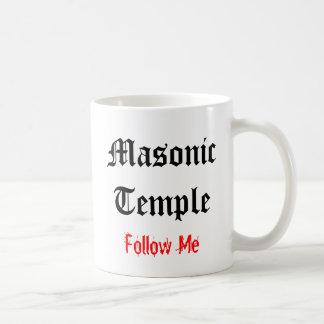 Masonic Temple Mug #1 White