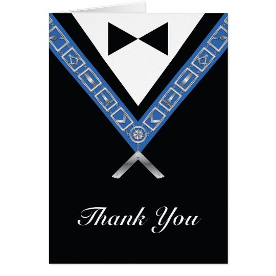 Masonic Thank You Note Cards
