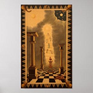 Masonic Tracing Board - Entered Apprentice 2 Poster