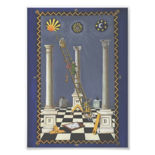 Masonic Tracing Board - Entered Apprentice 3 Poster
