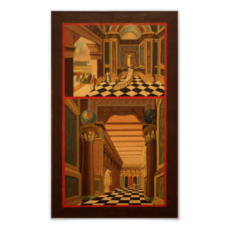 Masonic Tracing Board - Fellow Craft 2 Poster