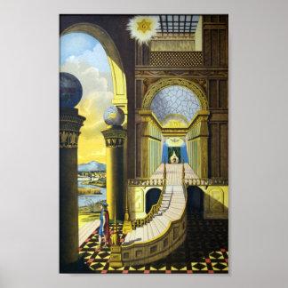 Masonic Tracing Board - Fellow Craft Poster