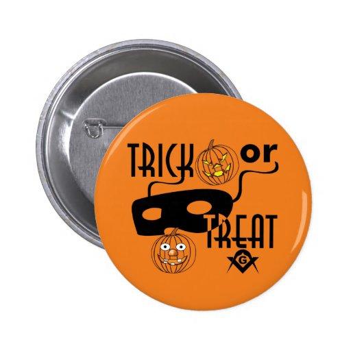 Masonic Trick or Treat 6 Cm Round Badge