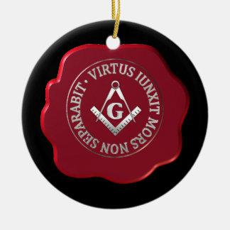 Masonic wax seal round ceramic decoration