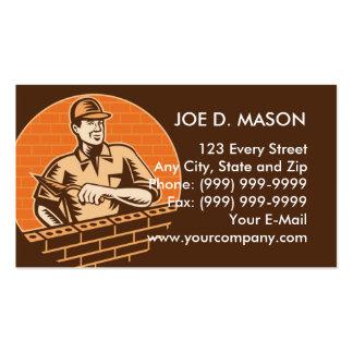 masonry brick worker or plasterer business cards