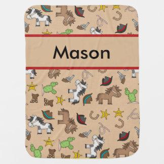 Mason's Cowboy Blanket Buggy Blanket