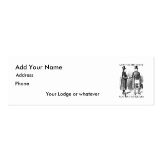 Masons Meeting Skinny Card Pack Of Skinny Business Cards