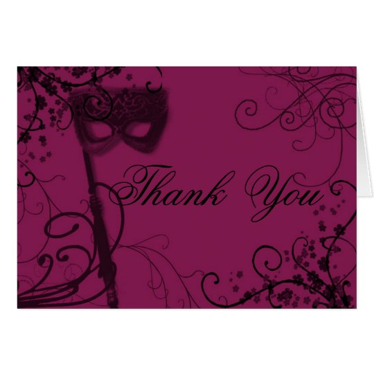 masquerade09blank, Thank  You Card