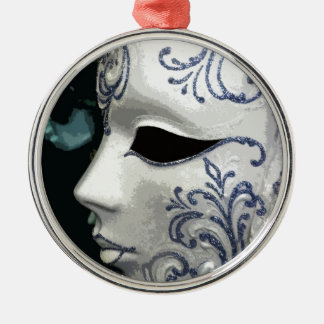 MASQUERADE 2 (blue) Christmas Ornament