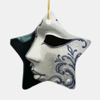 MASQUERADE 2 (blue) Christmas Ornament