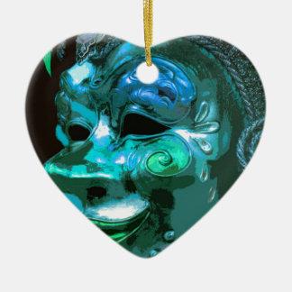 MASQUERADE 4 CERAMIC HEART DECORATION