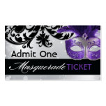 Masquerade Admission Tickets Business Card Templates