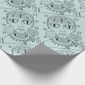 Masquerade Alien Lollipop Wrapping Paper