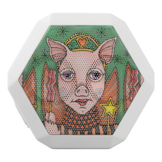 Masquerade Bacon Fairy Princess White Bluetooth Speaker