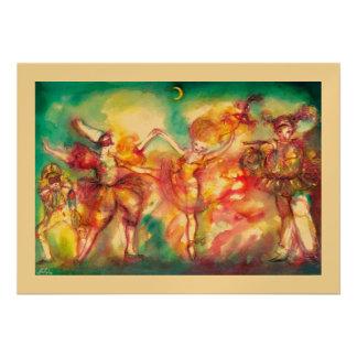 MASQUERADE BALL gold metallic Custom Invitation