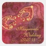 Masquerade Ball Mardi Gras Wedding Envelope Seal