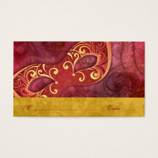 Masquerade Ball Mardi Gras Wedding Place Cards