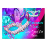 Masquerade Ball Party Masks New Years Eve Party 13 Cm X 18 Cm Invitation Card