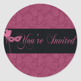 masquerade ball sticker