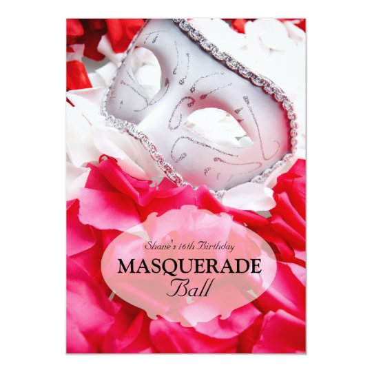 Masquerade Birthday Ball Costume Party Invitation