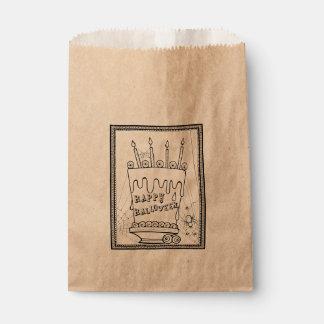 Masquerade Cake Line Art Design Favour Bags
