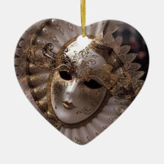 Masquerade Ceramic Heart Decoration